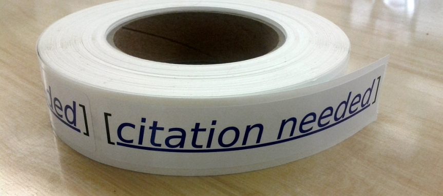 "Wikipedia ""Citation needed"" stickers"