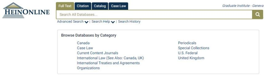 New on HeinOnline: History of International Law
