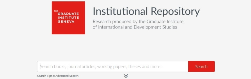 Archiving the Graduate Institute's Research